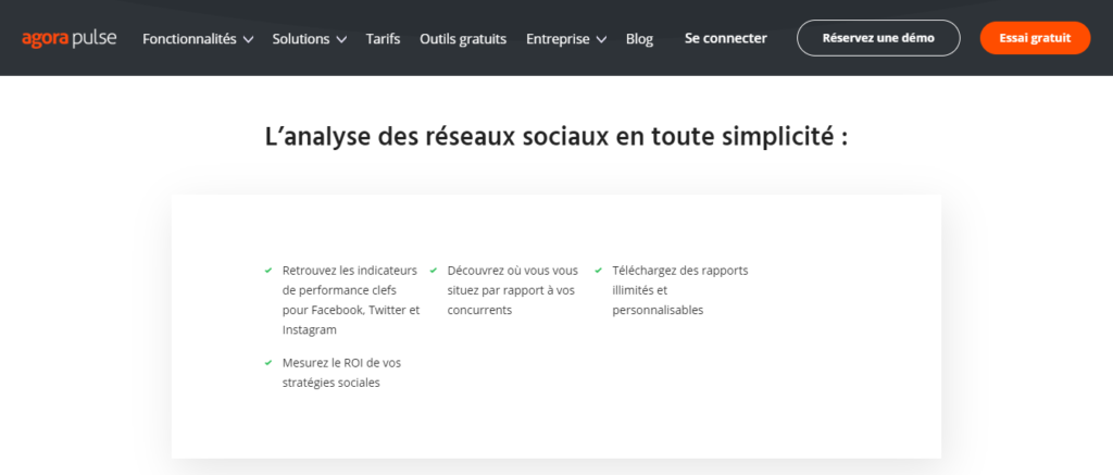 Agorapulse - analyse